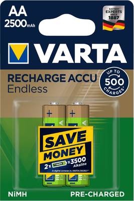 Bat.Varta HR6 2500/2 R2U Endless,AA