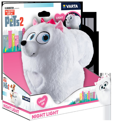 Svít.Varta Secret Life of Pets Plush Night Light (RP 2,10 Kč)